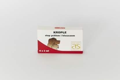 ZOO ART® AS Krople STOP pchłom i kleszczom - 6x2ml